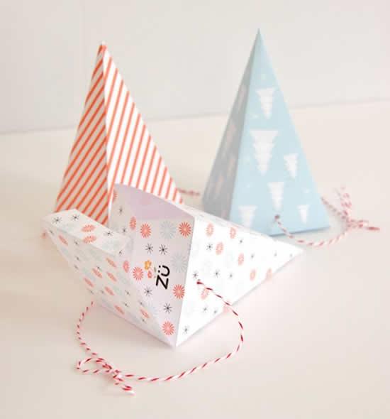 Caixinhas lindas com papel