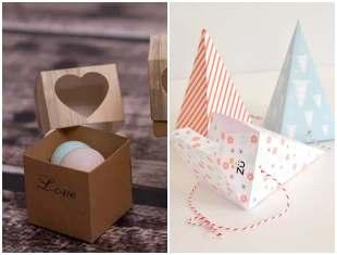 Caixinhas de papel com molde