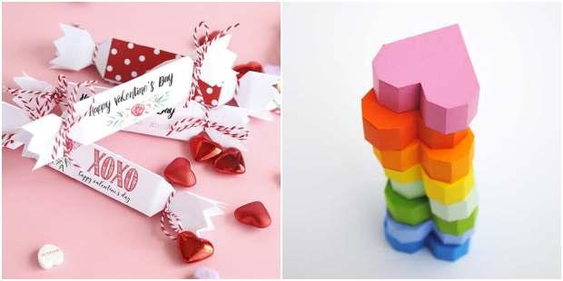Caixinhas para Dia dos Namorados com moldes