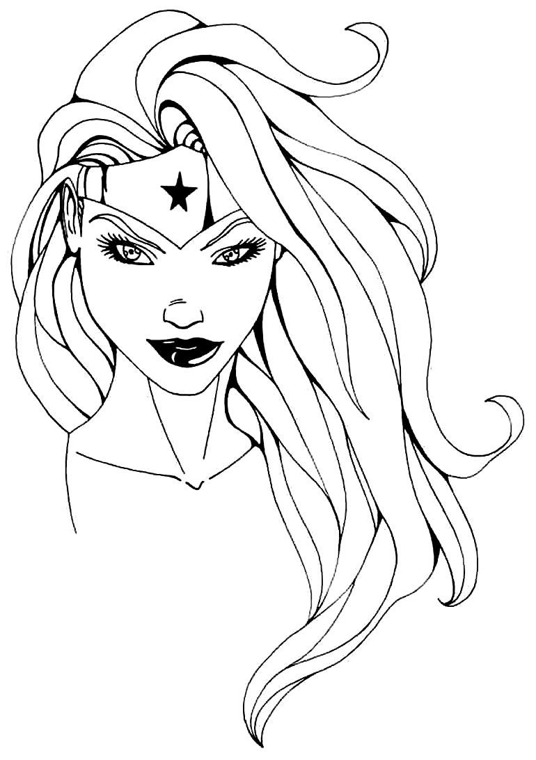 Desenho da Mulher-Maravilha para colorir