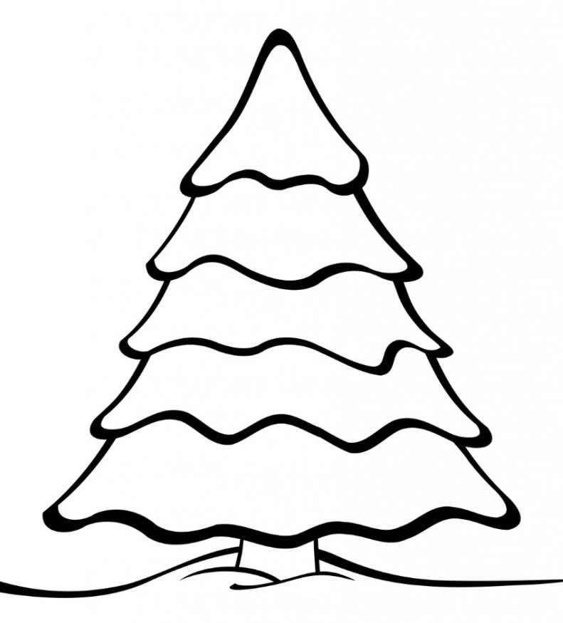 Desenho lindo de Árvore de Natal para colorir