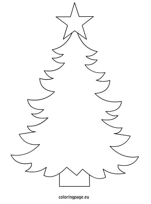 Desenho para colorir com crianças - Árvore de Natal