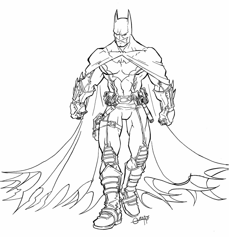 Molde de Batman para colorir