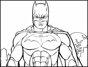 Desenhos de Batman para imprimir e colorir