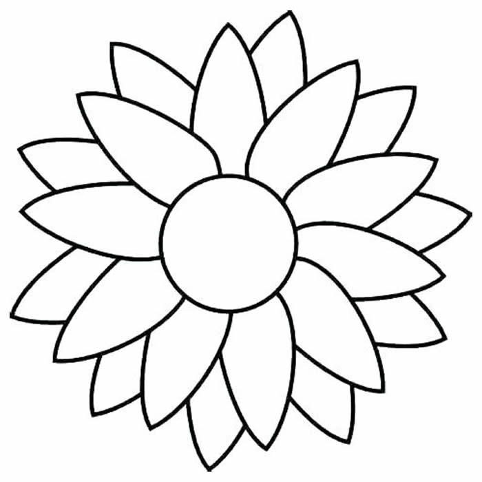 Desenho de flor para imprimir e colorir
