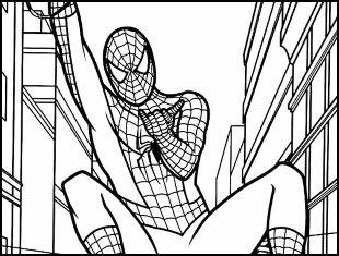 Desenhos de Homem-Aranha para colorir e imprimir