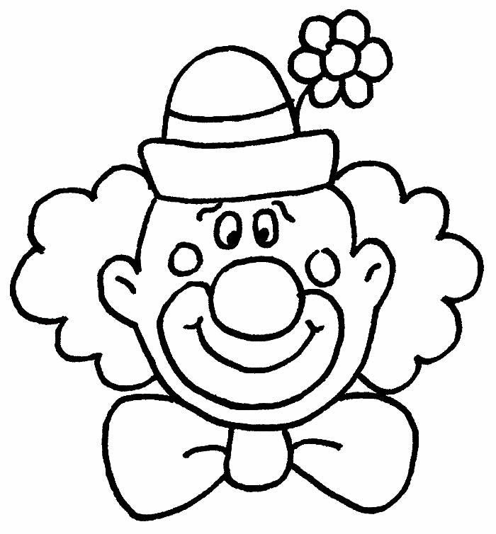 Desenho de palhaço para colorir