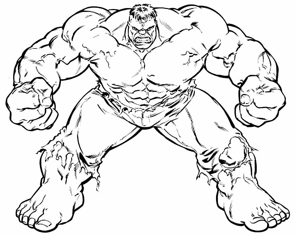 Desenho de Hulk para colorir