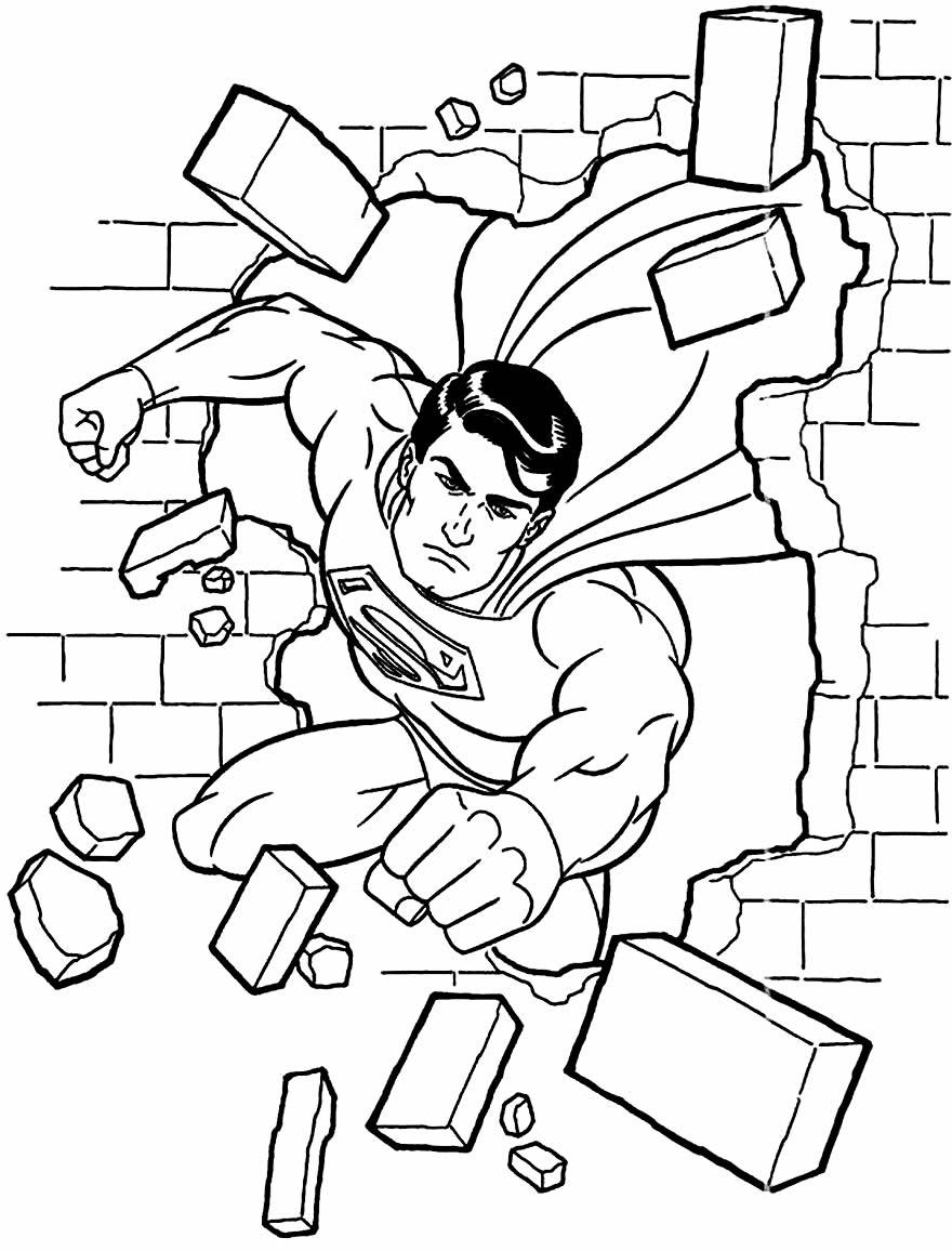 Desenho de Super-heróis para colorir