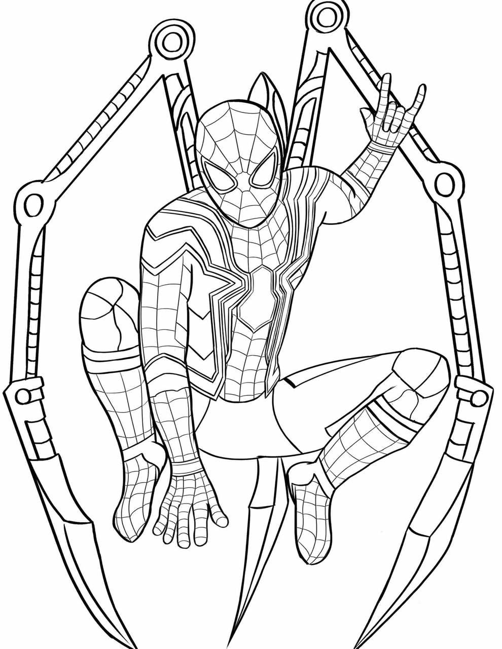 Desenho Homem Aranha para colorir