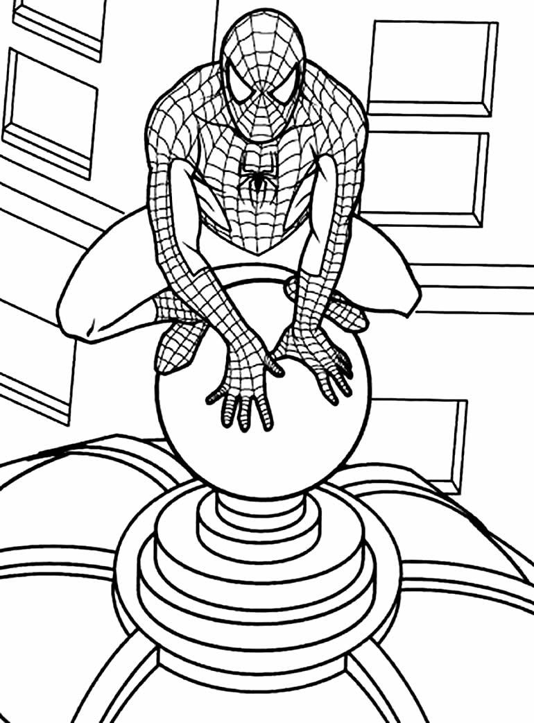 Imagem Homem Aranha para colorir