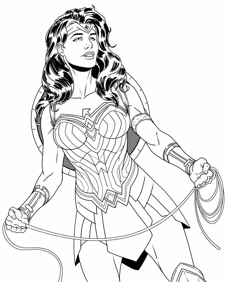 Imagem Mulher Maravilha para colorir