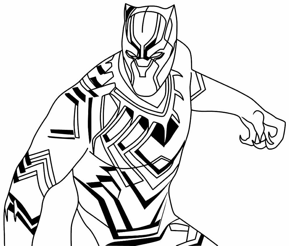 Imagem Pantera Negra para colorir