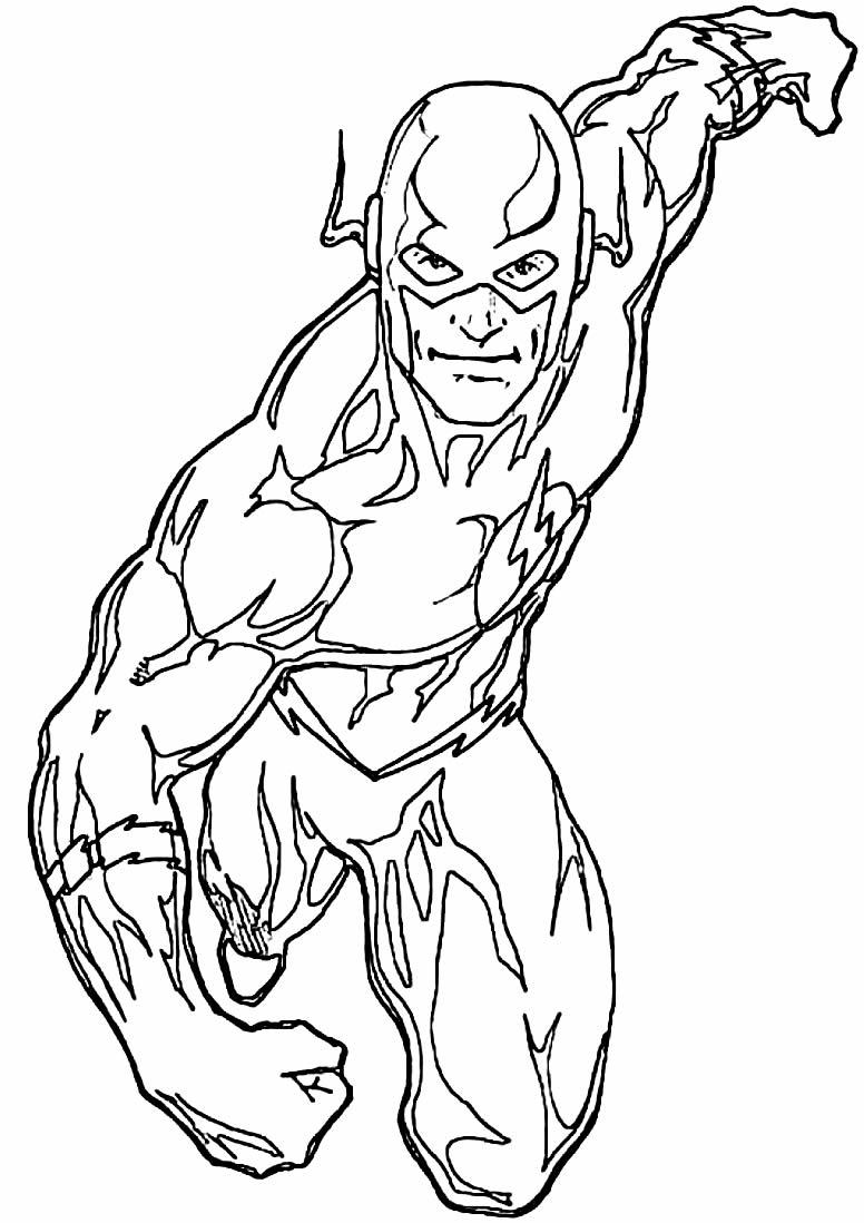 Desenho do The Flash para colorir