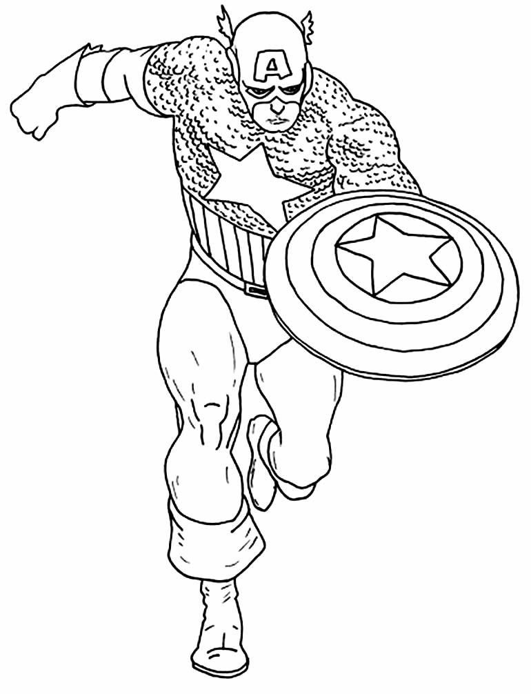 Desenho do Capitão América para colorir