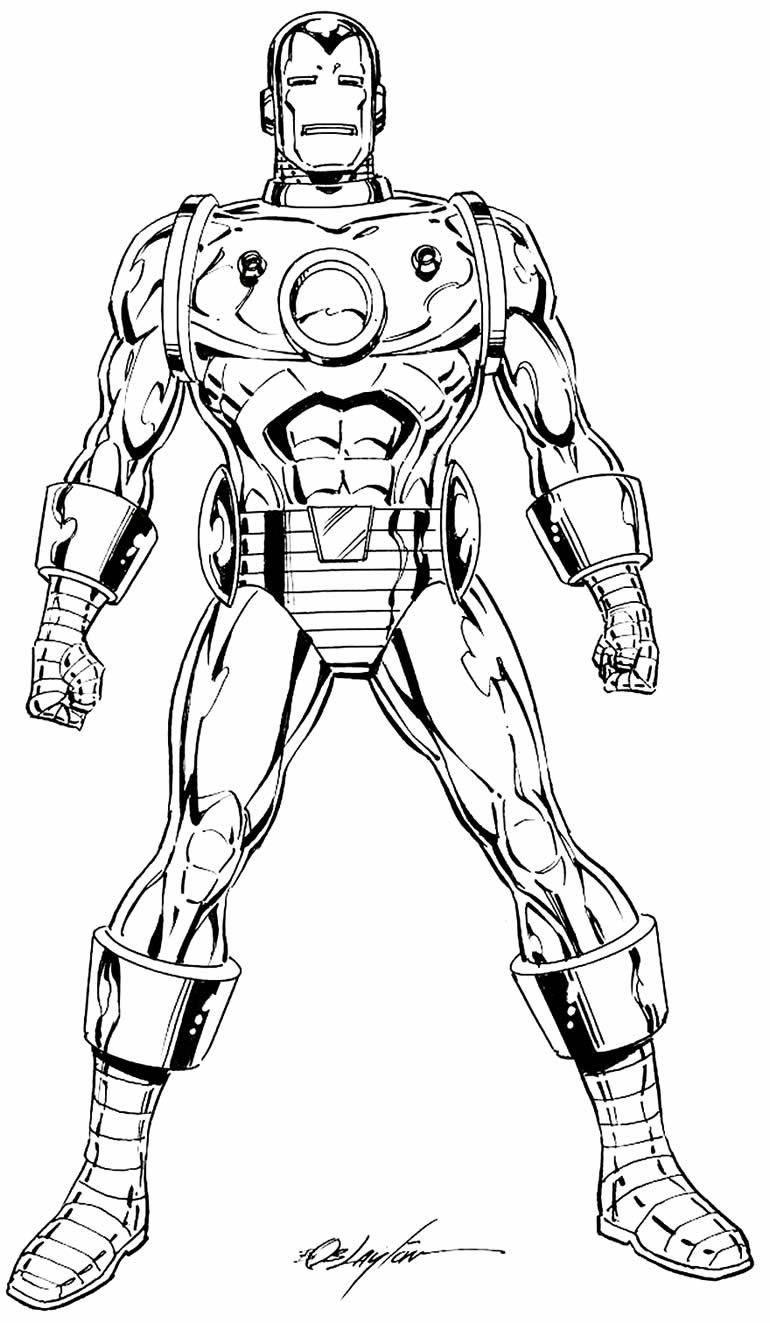Desenho do Homem de Ferro para colorir