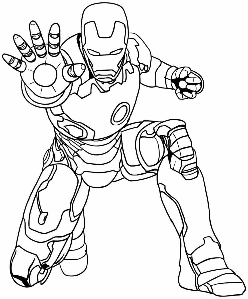 Desenho do Homem de Ferro para pintar