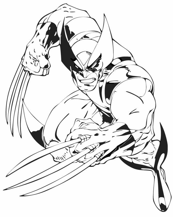 Desenho de Wolverine para imprimir e colorir