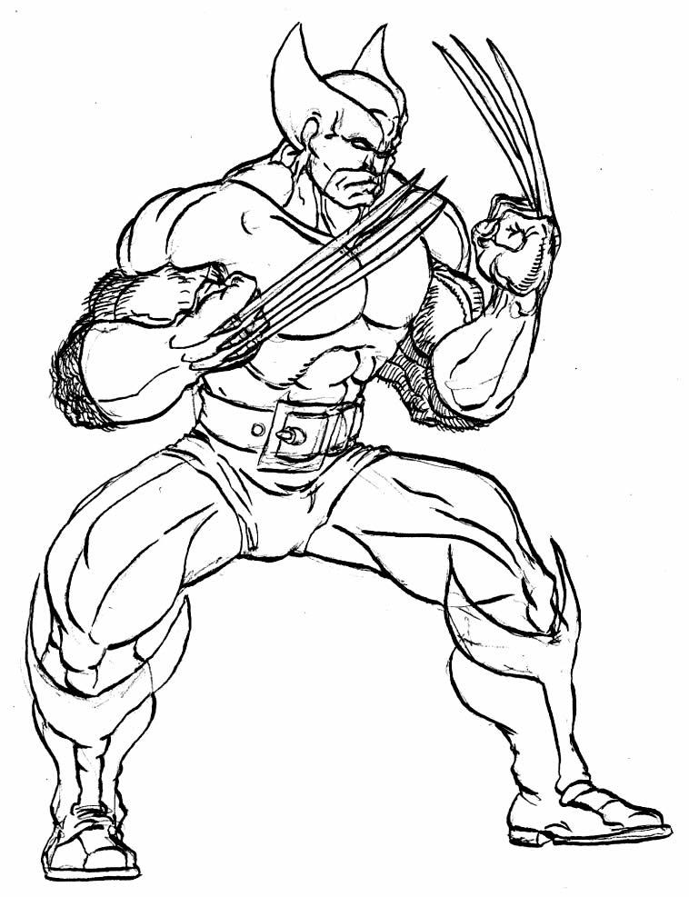 Molde de Wolverine para colorir