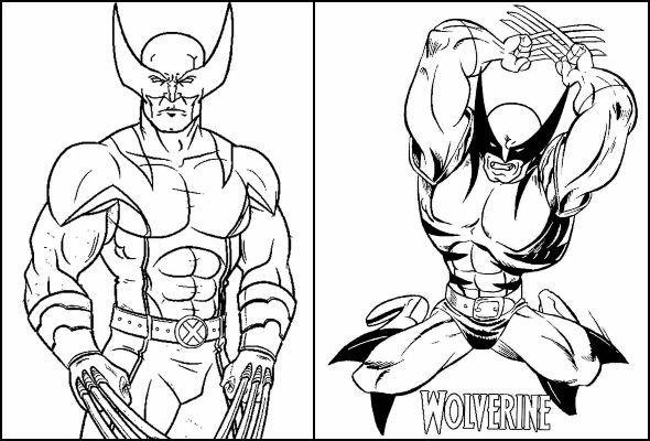 Desenhos Wolverine para colorir e imprimir