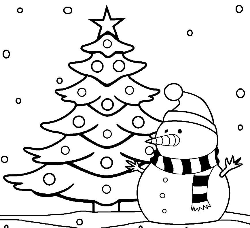 Imagem de Árvore de Natal para colorir
