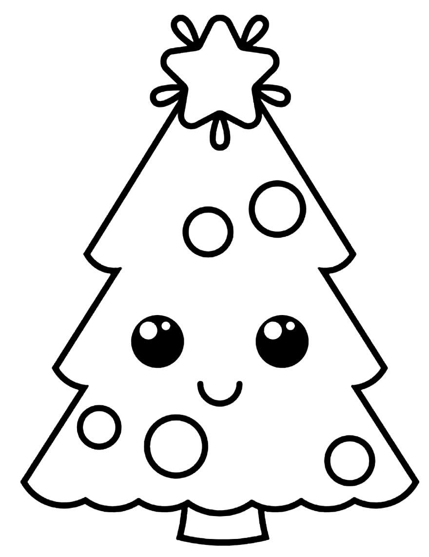 Imagem de Árvore de Natal para pintar