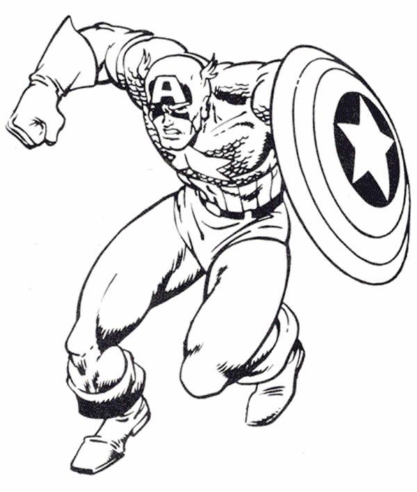 Desenho de Capitão América para colorir