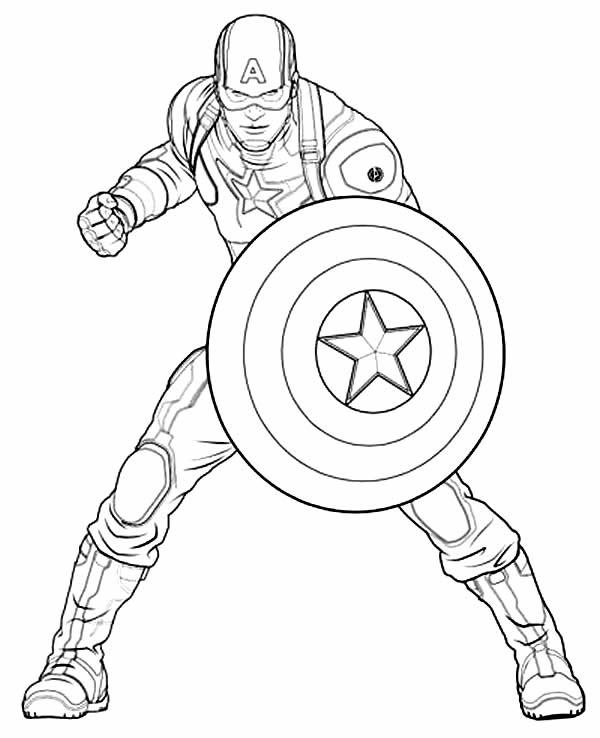 Molde de Capitão América para colorir