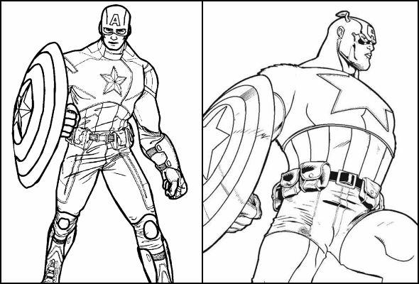Desenhos de Capitão América para colorir