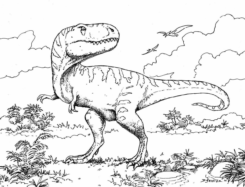 Molde de dinossauro para pintar