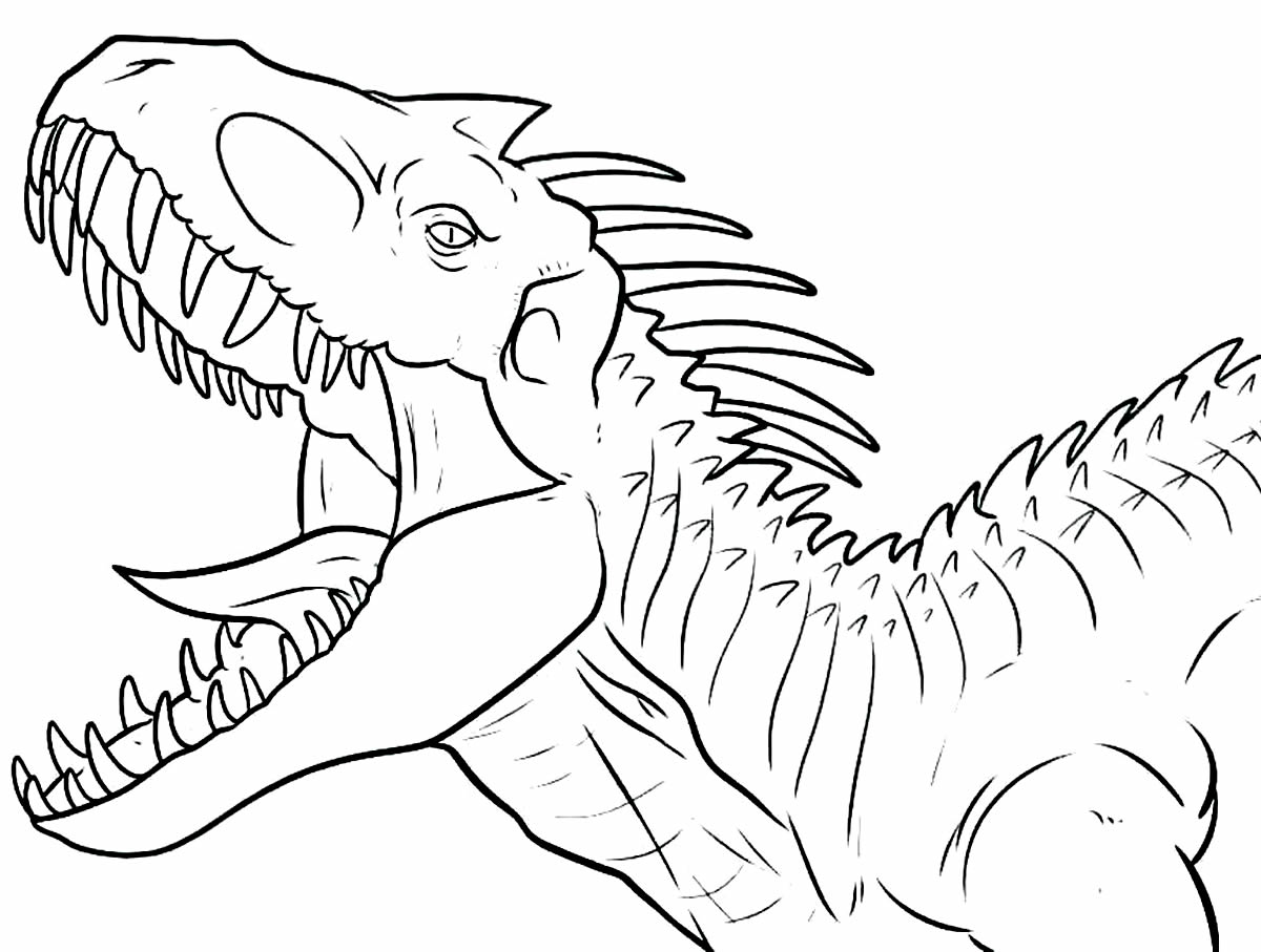 Dinossauro para colorir e pintar