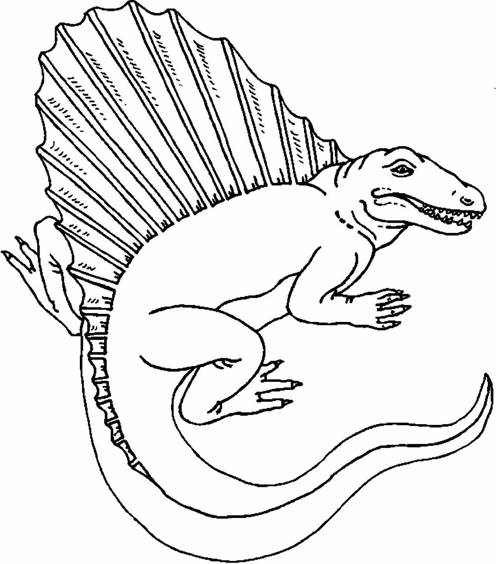 Dinossauro para imprimir e colorir