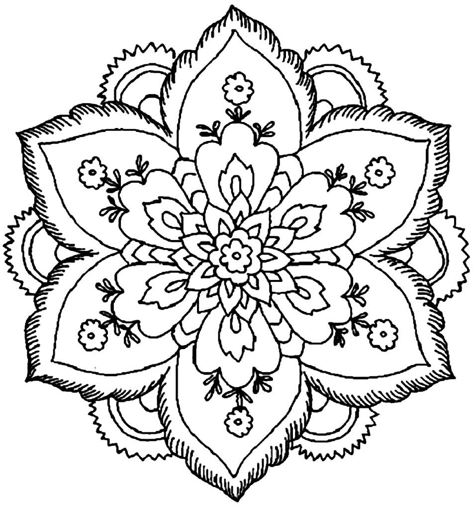 Imagens de flor para pintar