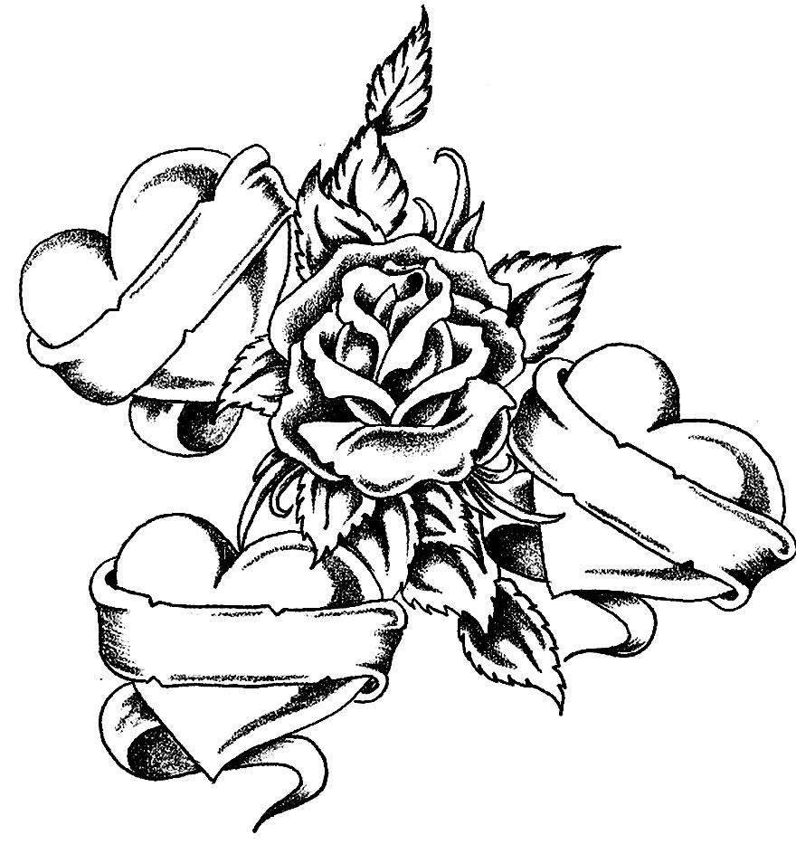 Imagem de flores para pintar