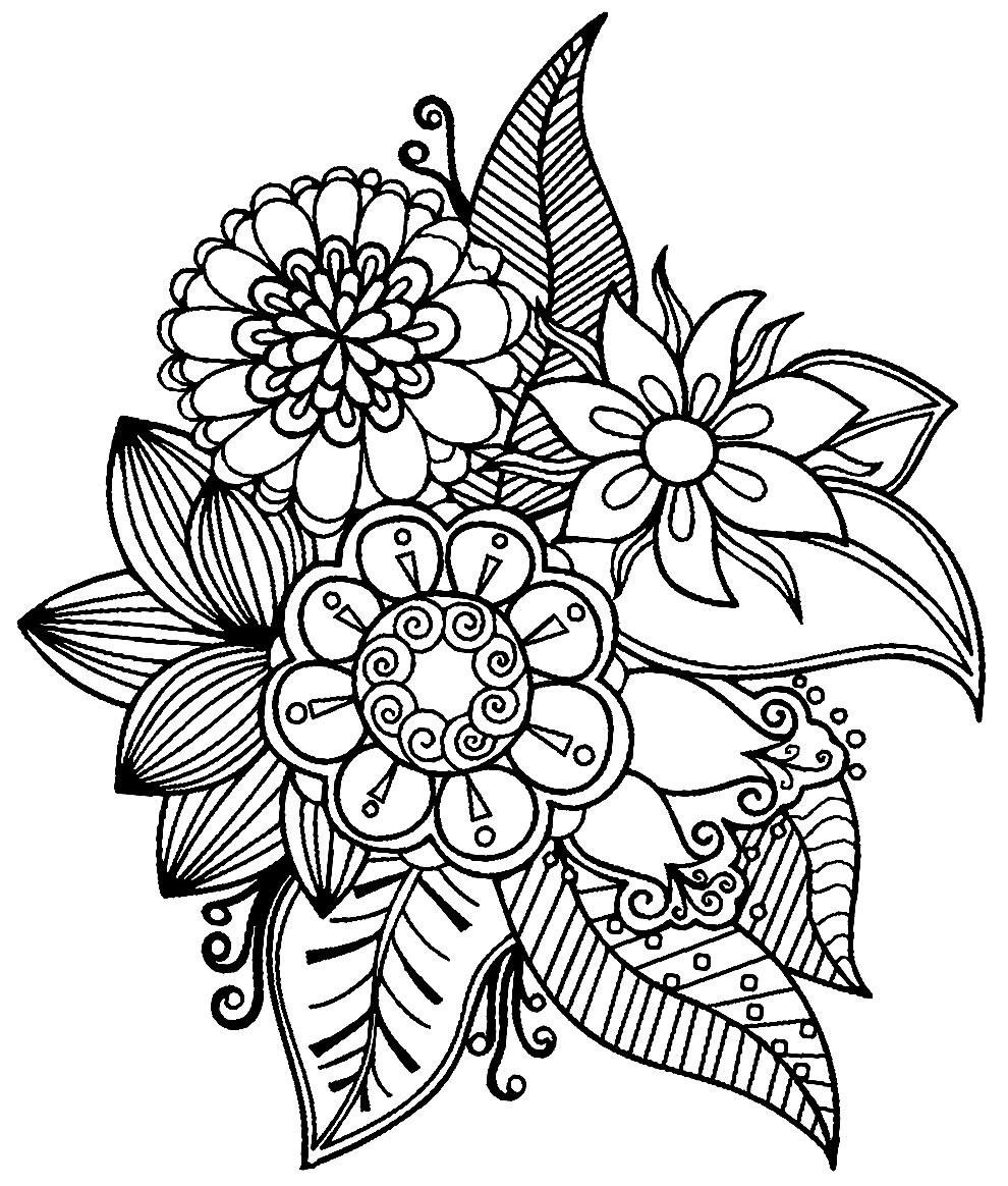 Desenho de flores lindas para colorir
