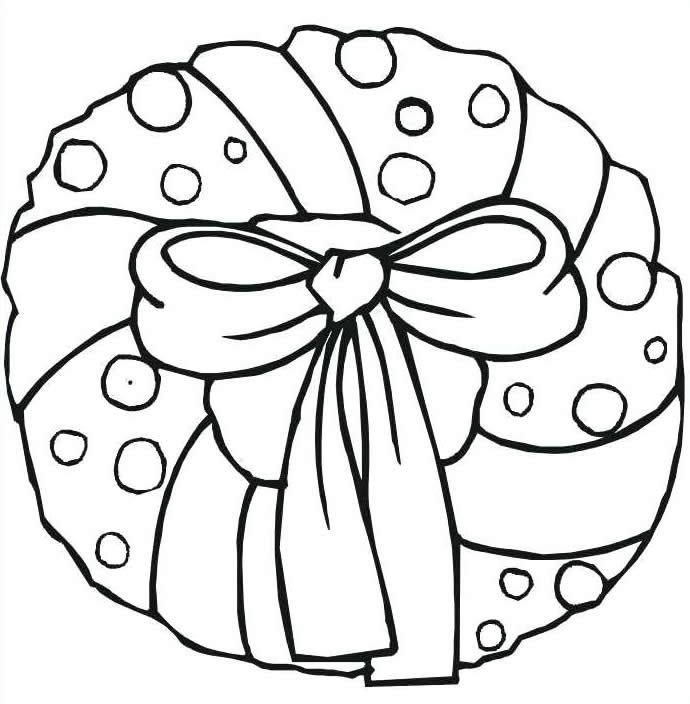 Desenho de Natal para imprimir e colorir