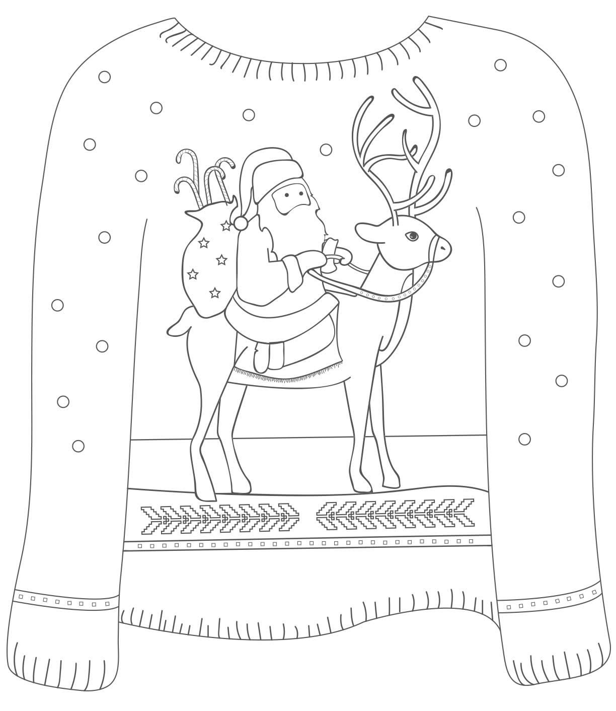 Desenhos lindos para colorir no Natal