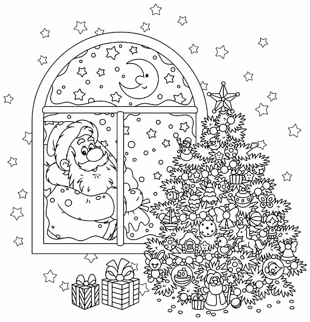Molde de Natal para colorir