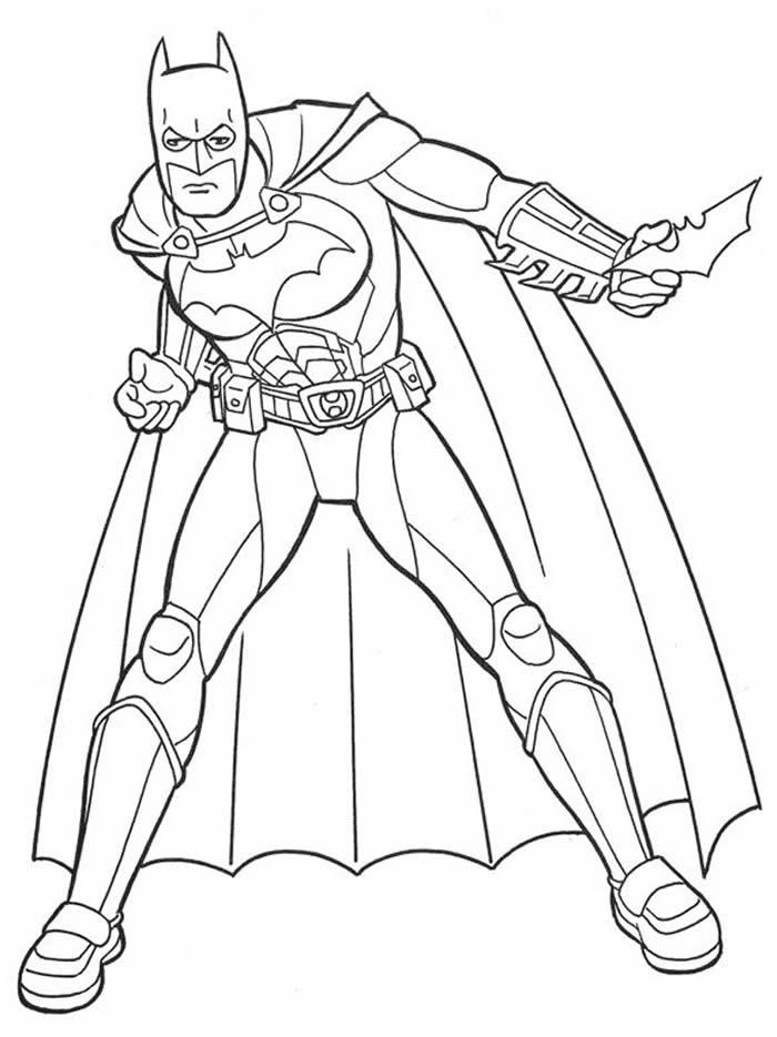 Desenho de Batman para colorir
