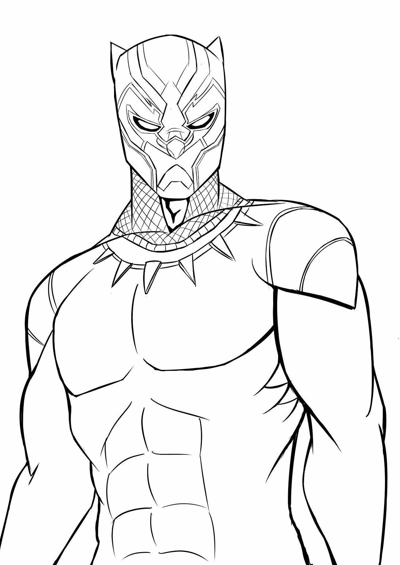 Desenho de Pantera Negra para colorir