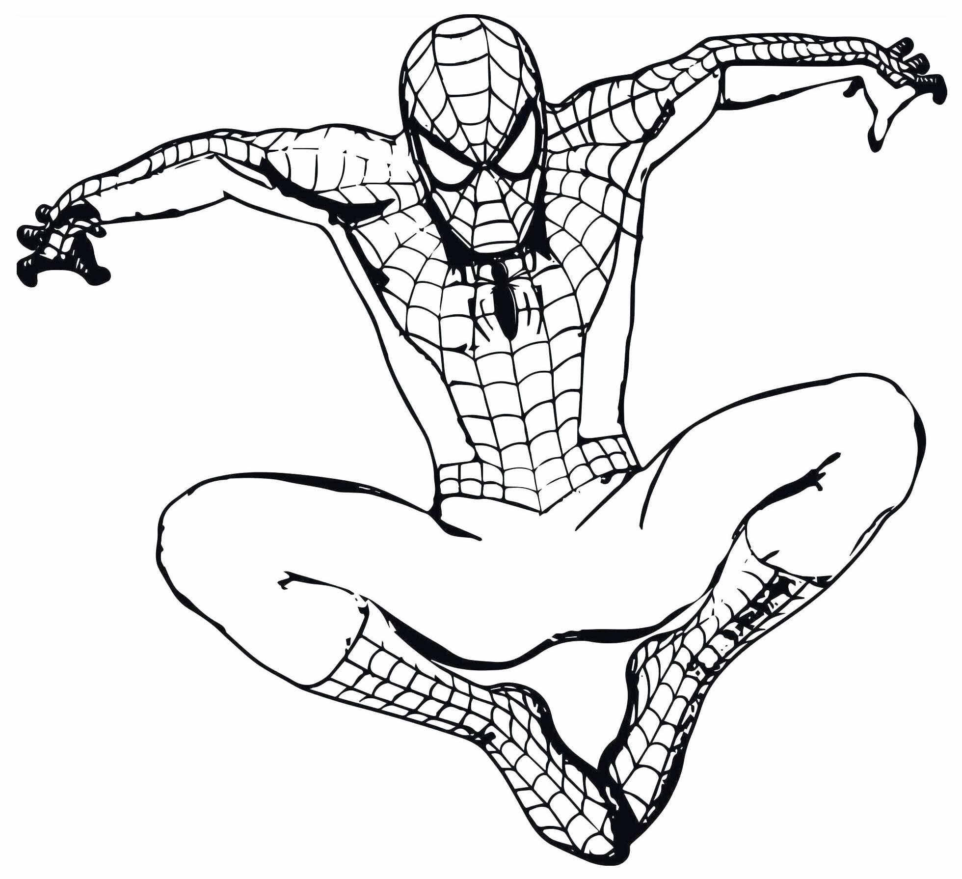 Desenho de Homem-Aranha para imprimir e pintar