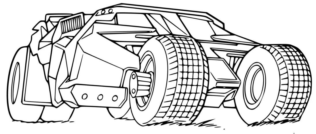 Desenho de Batmóvel para colorir