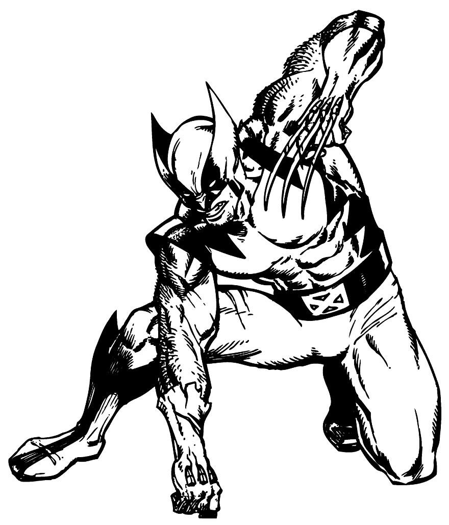 Desenho do Wolverine para imprimir e colorir