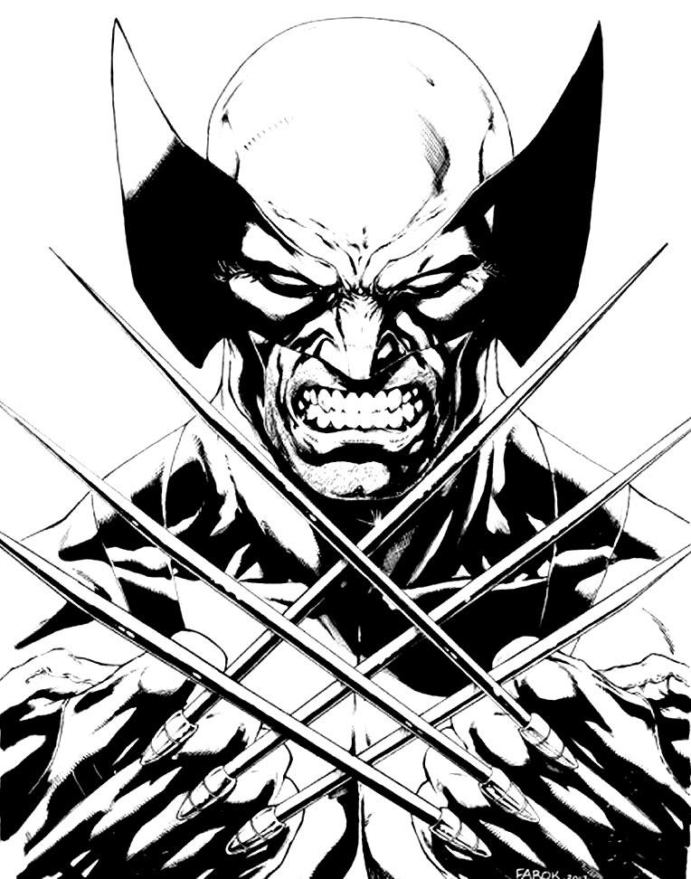 Desenho do Wolverine para imprimir e pintar