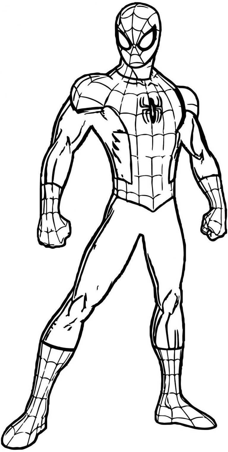 Desenho do Homem-Aranha para colorir