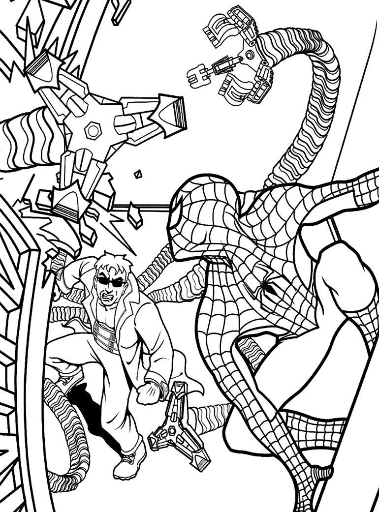 Desenho do Homem-Aranha para pintar
