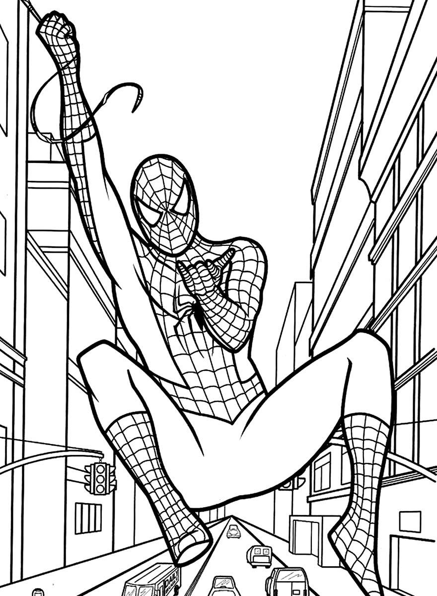 Imagem do Homem-Aranha para pintar