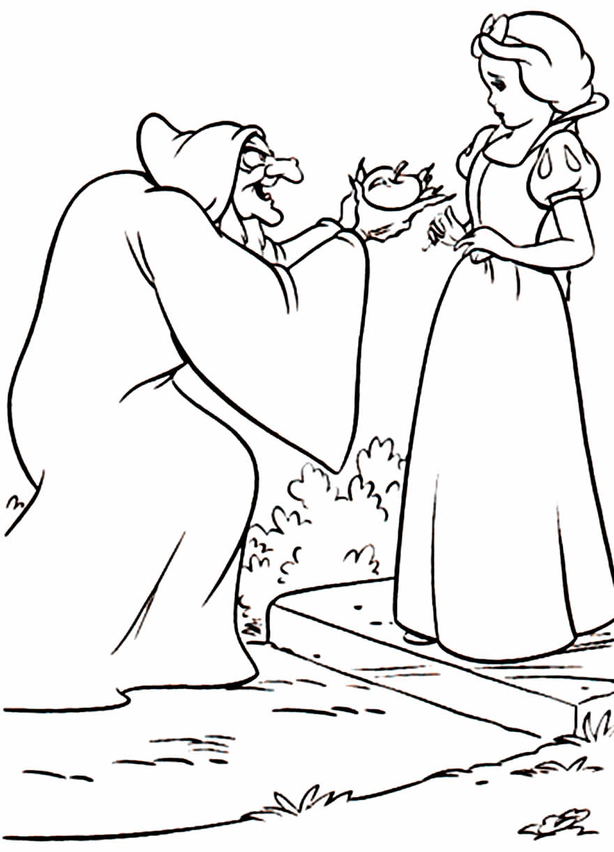 Desenho da Bruxa da Branca de Neve