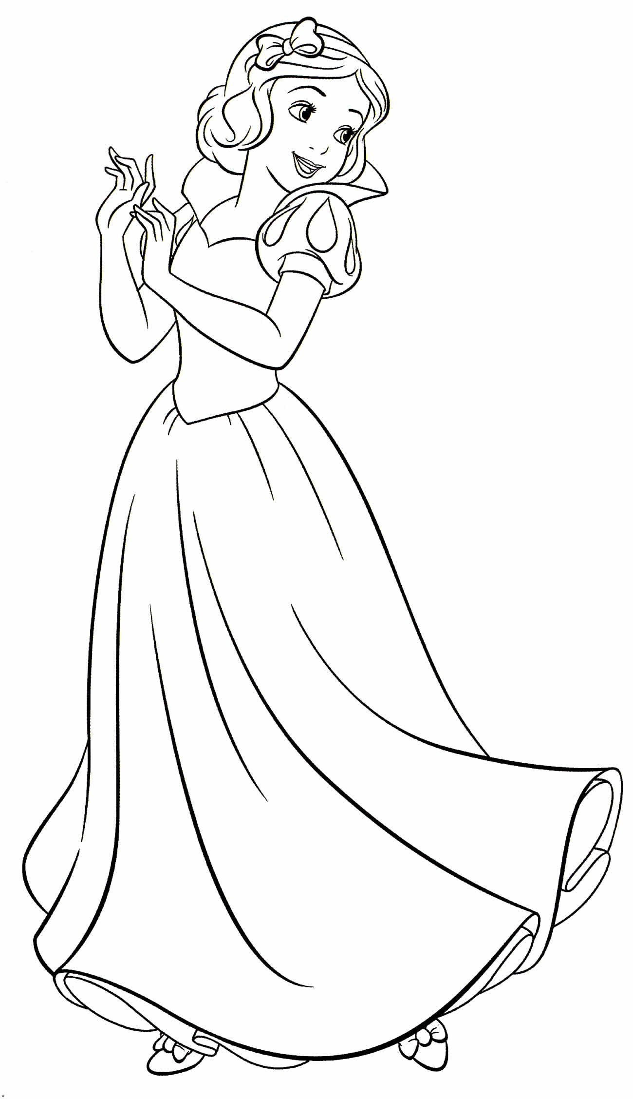 Desenho da Branca de Neve para pintar