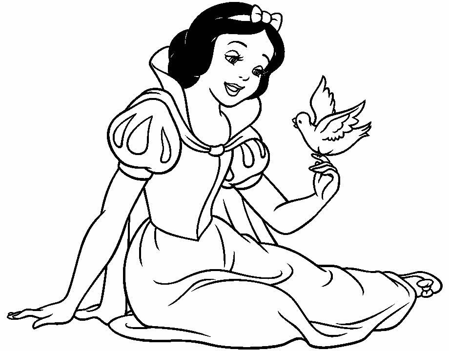 Lindos desenhos da Branca de Neve para pintar